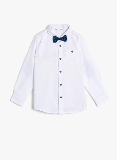 Koton Kids Papyon Detayli Gömlek  Beyaz